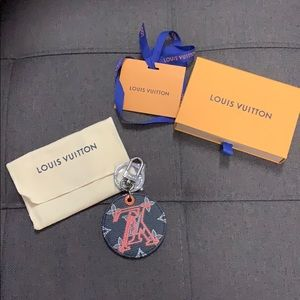 Authentic Louis Vuitton upside down bag charm